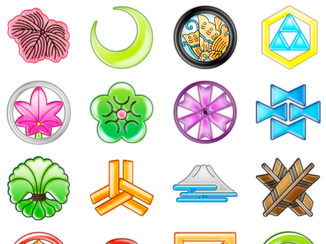 Japanese Kamon Icons
