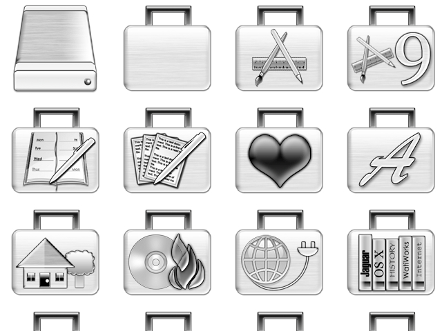Brushed Metal Folder Icons